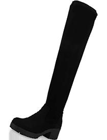 Botas de mujer en ante con tacón mediano