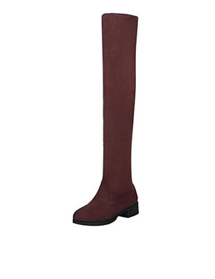 Botas rojas de mujer sin cordones planas