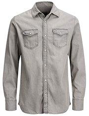 Camisa de jean gris Jack & Jones para hombre