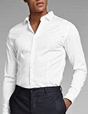 Camisa de manga larga Jack & Jones de algodón para hombre