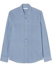 Camisa manga larga con diseño estampado para hombre