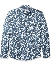 Camisa manga larga de lino con estampados para hombre