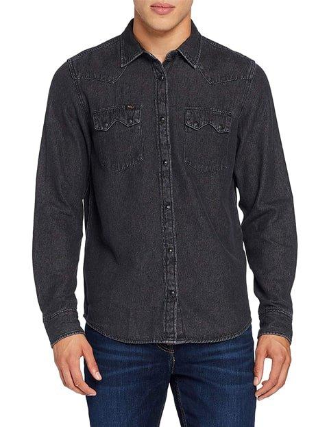 Camisa vaquera hombre negra Lee