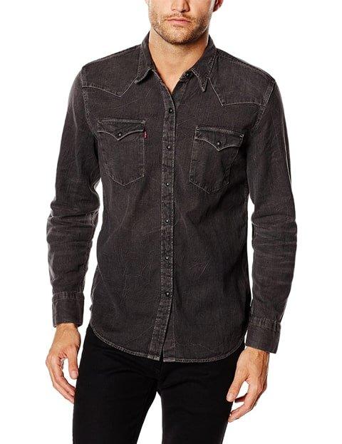 Camisa vaquera hombre negra Levis