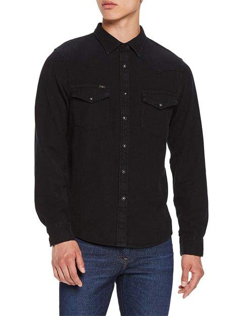 Camisa vaquera hombre negra denim
