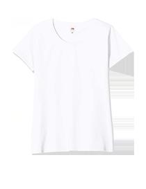 Camiseta blanca Fruit of the Loom (Pack de 5) Algodón 100%