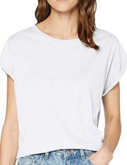 Camiseta blanca de manga corta para mujer