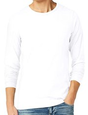 Camiseta de manga larga cuello redondo para hombre