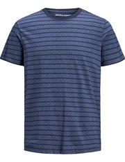 Camiseta manga corta de rayas para hombre color azul
