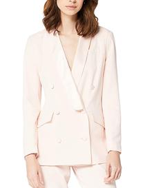 Chaqueta estilo blazer rosa pálido de mujer