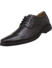 Clarks Tilden Plain zapatos de cuero negros para hombre
