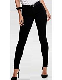 Jeans ajustados negros de mujer