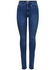 Jeans de mujer cintura alta de corte skinny azul
