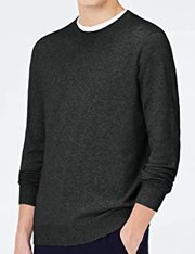 Jersey de algodón elástico de corte clásico para hombre
