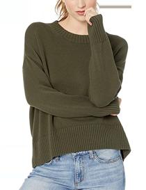 Jersey de mujer de corte cuadrado y cuello redondo algodón