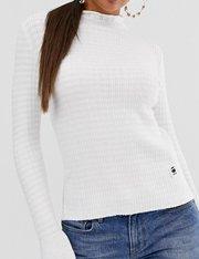 Jersey de punto con cuello alto mujer