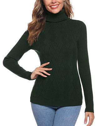 Jersey de rombos nuevo diseño color verde de mujer