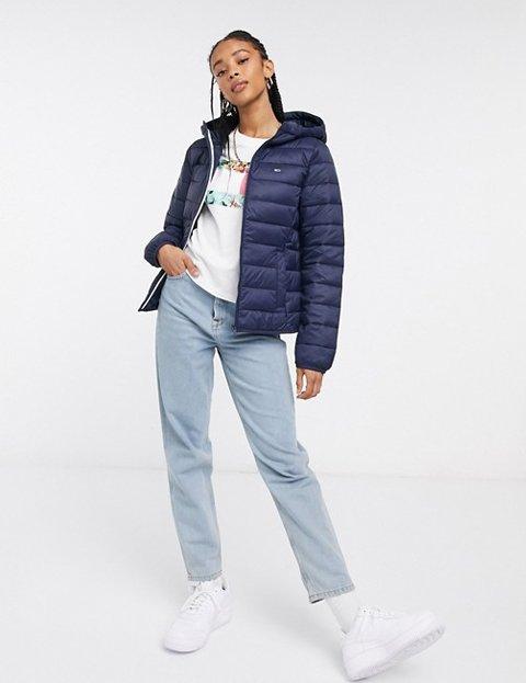 Outfits con abrigo azul