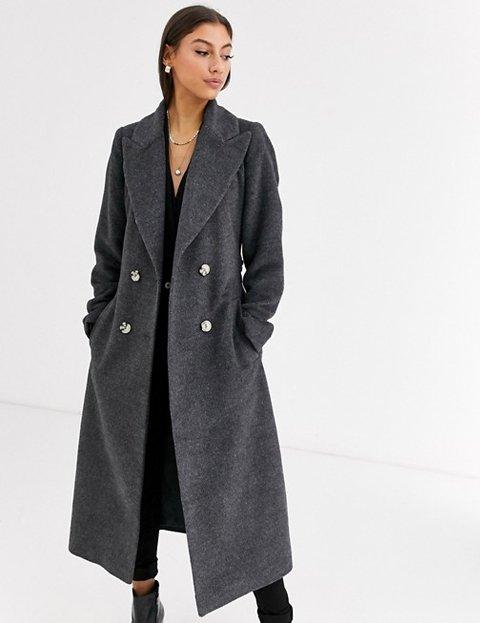 Outfits con abrigo gris