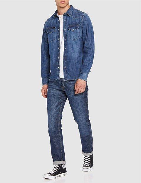 Outfit camisa vaquera hombre Lee