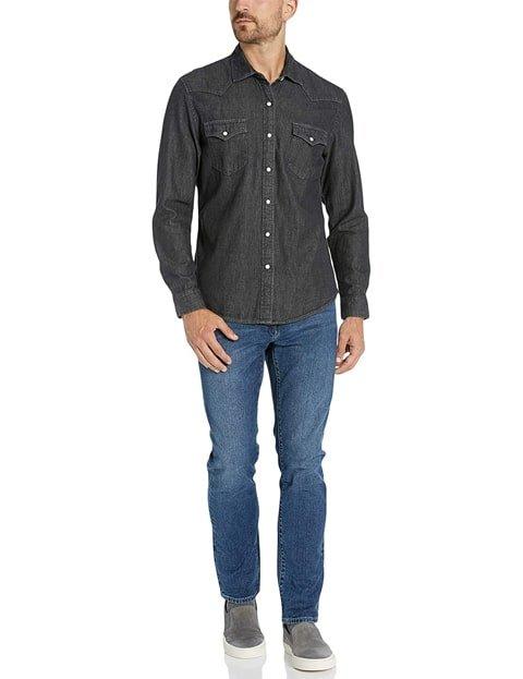 Outfit camisa vaquera hombre color negro