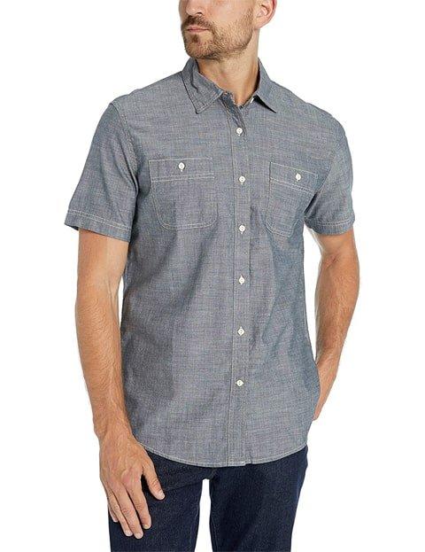 Outfit camisa vaquera hombre manga corta