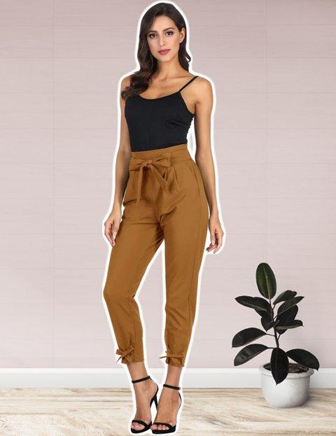 Outfit casual elegante mujer con pantalones capri