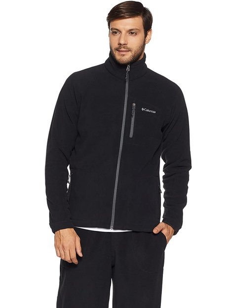Outfit con chaqueta negra impermeable Columbia