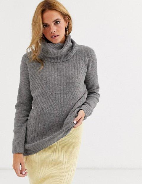 Outfits con jerséis grises