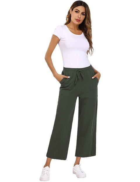 Outfits con pantalones anchos