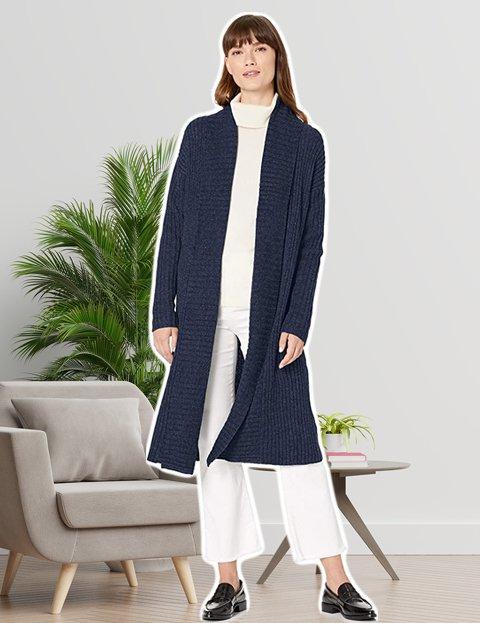 Outfit formal mujer para la oficina cárdigan gris