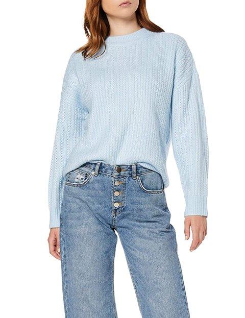 Outfit jersey azul cielo para mujer