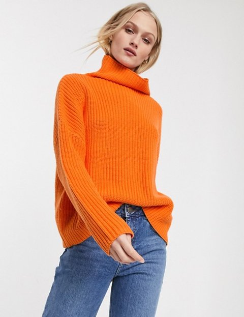 Outfits con jerséis naranjas