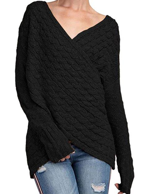 Outfit jersey negro con diseño de ochos mujer