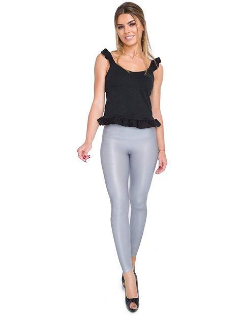 Outfit leggings gris formal de mujer