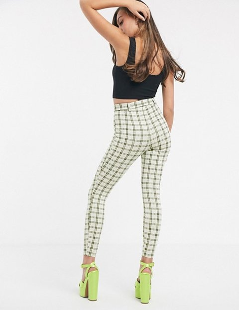 Outfit leggins cuadros mujer
