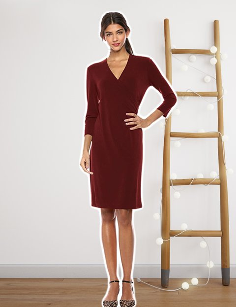 Outfit mujer vestido rojo