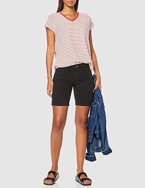 Outfit pantalón negro corto mujer