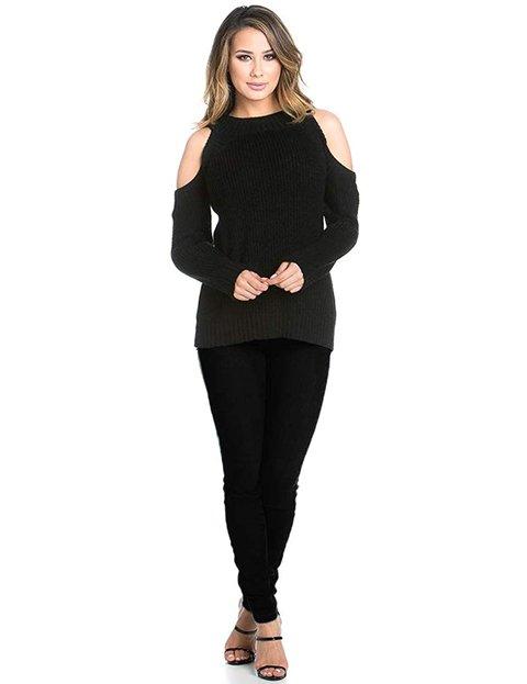 Outfit pantalón negro mujer casual vaquero con cintura alta