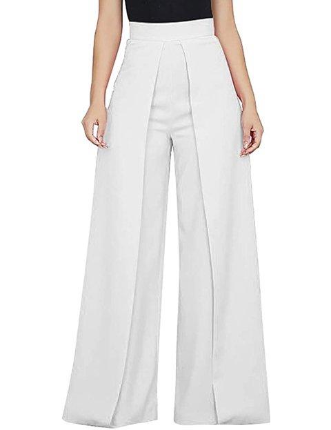 Outfit pantalón palazzo blanco para mujer