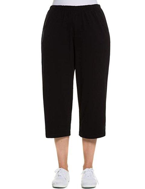 Outfit pantalones anchos cortos negros de mujer