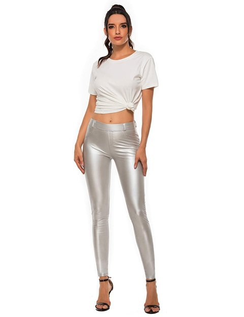 Outfits leggins gris formal mujer