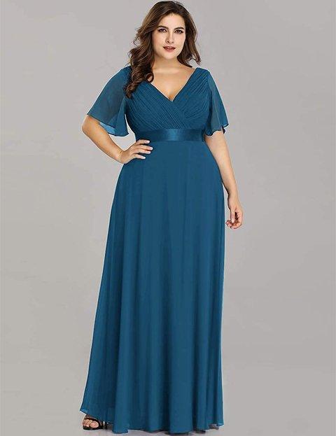 Outfits vestido azul electrico