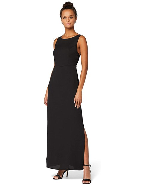 Outfits vestido negro formal sin mangas