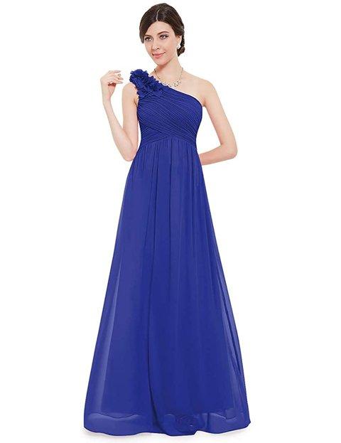 Outfits vestidos elegantes azul