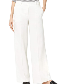 Pantalón blanco de pernera ancha para mujer
