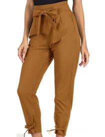 Pantalón capri de mujer amarillo mostaza