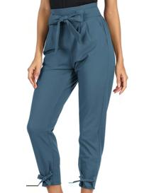 Pantalón capri de mujer azul adria