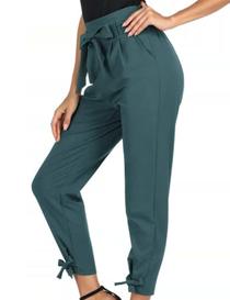 Pantalón capri de mujer azul verdoso