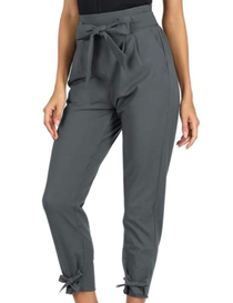 Pantalón capri de mujer gris oscuro